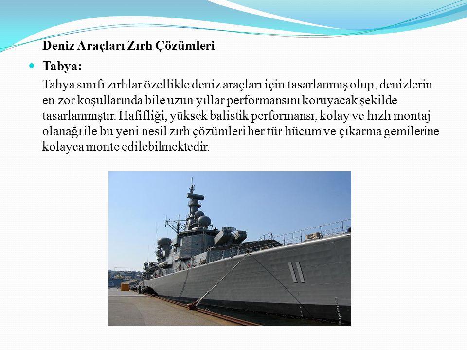 Deniz Araçları Zırh Çözümleri