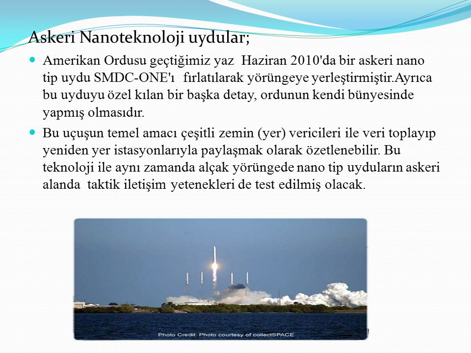 Askeri Nanoteknoloji uydular;