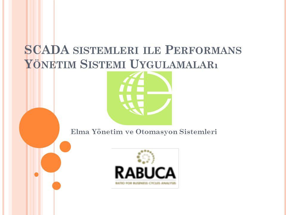 SCADA sistemleri ile Performans Yönetim Sistemi Uygulamaları