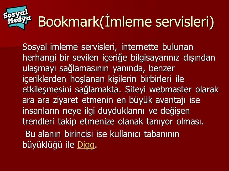 Bookmark(İmleme servisleri)