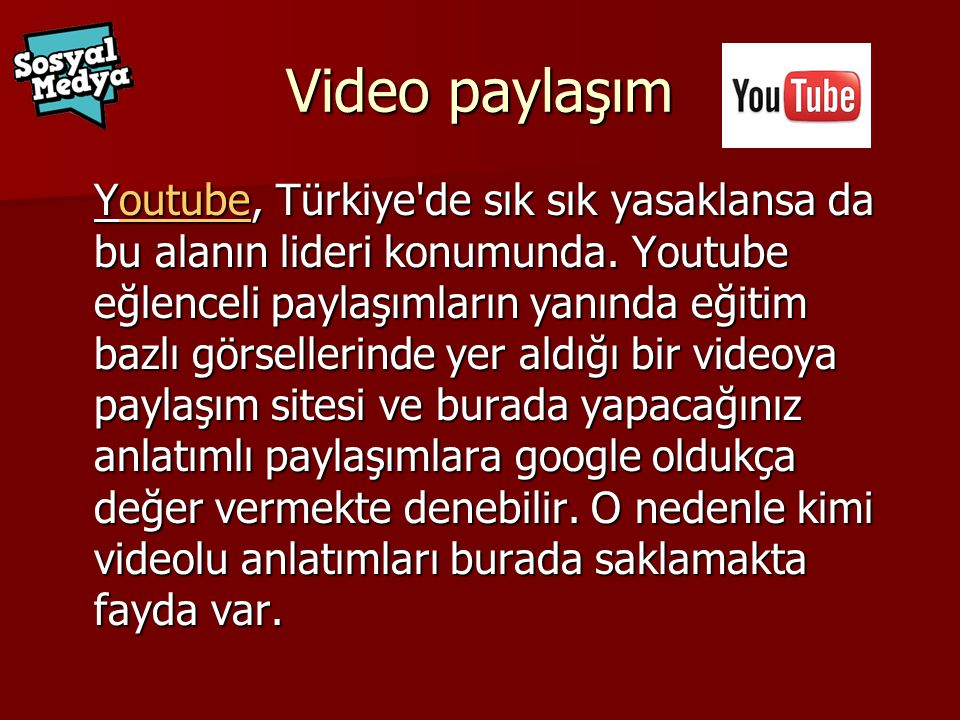Video paylaşım