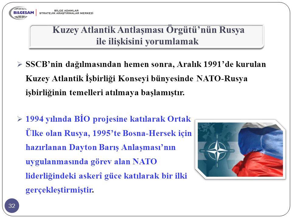 Kuzey Atlantik Antlaşması Örgütü'nün Rusya ile ilişkisini yorumlamak