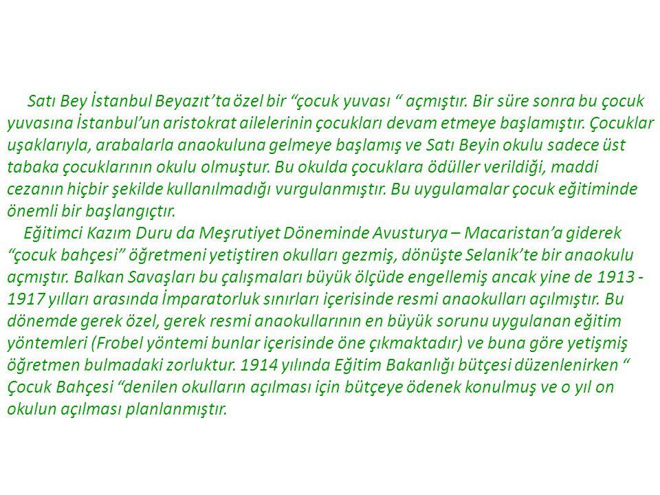 Satı Bey İstanbul Beyazıt'ta özel bir çocuk yuvası açmıştır