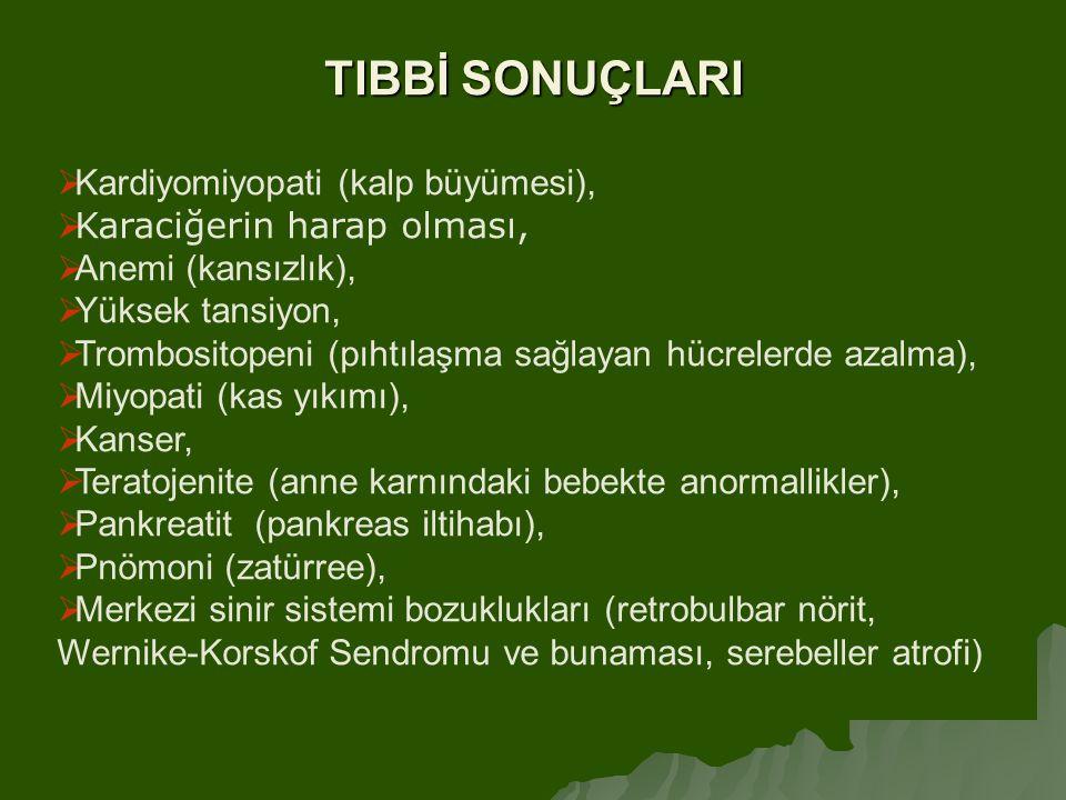 TIBBİ SONUÇLARI Kardiyomiyopati (kalp büyümesi),