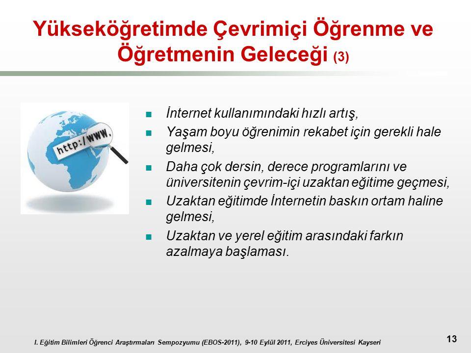 Yükseköğretimde Çevrimiçi Öğrenme ve Öğretmenin Geleceği (3)