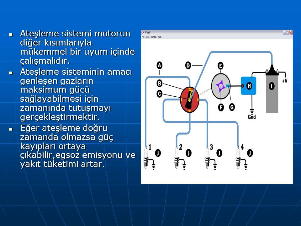 Ateşleme sistemi motorun diğer kısımlarıyla mükemmel bir uyum içinde çalışmalıdır.