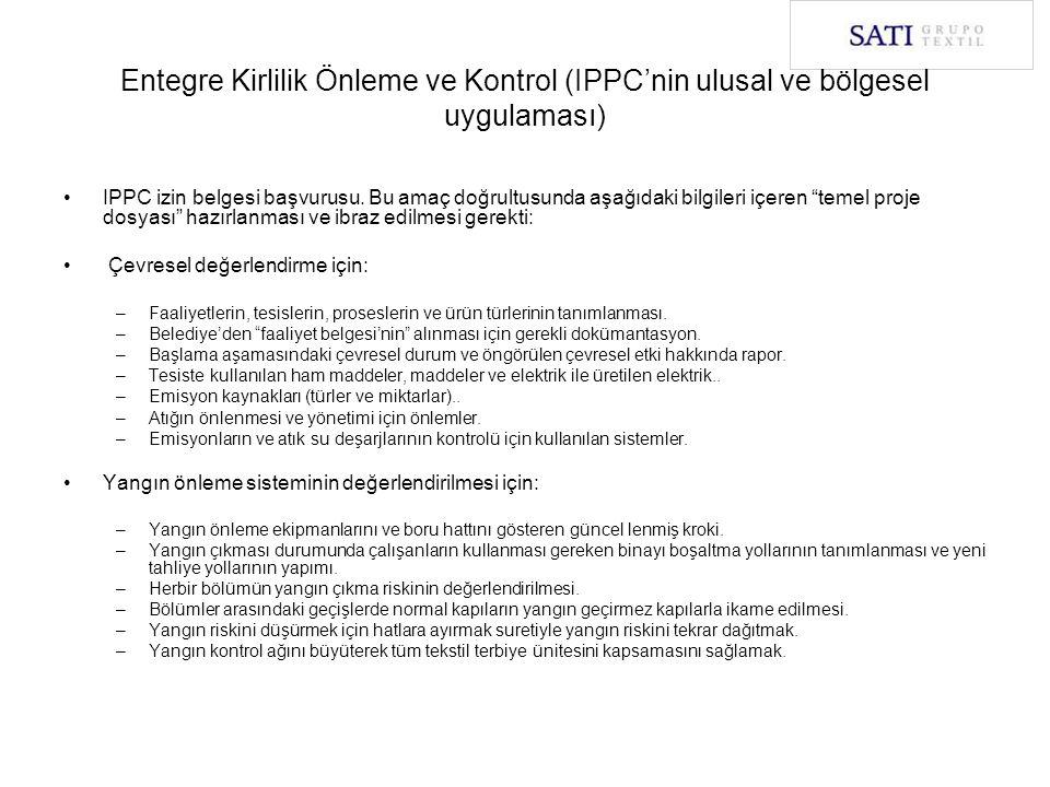 Entegre Kirlilik Önleme ve Kontrol (IPPC'nin ulusal ve bölgesel uygulaması)