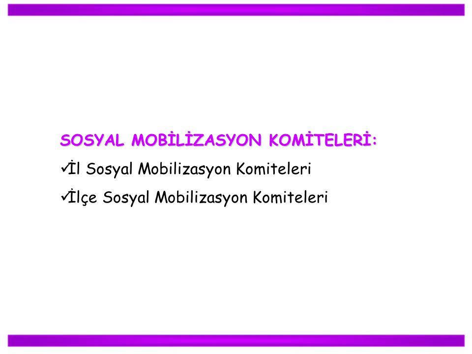 SOSYAL MOBİLİZASYON KOMİTELERİ: