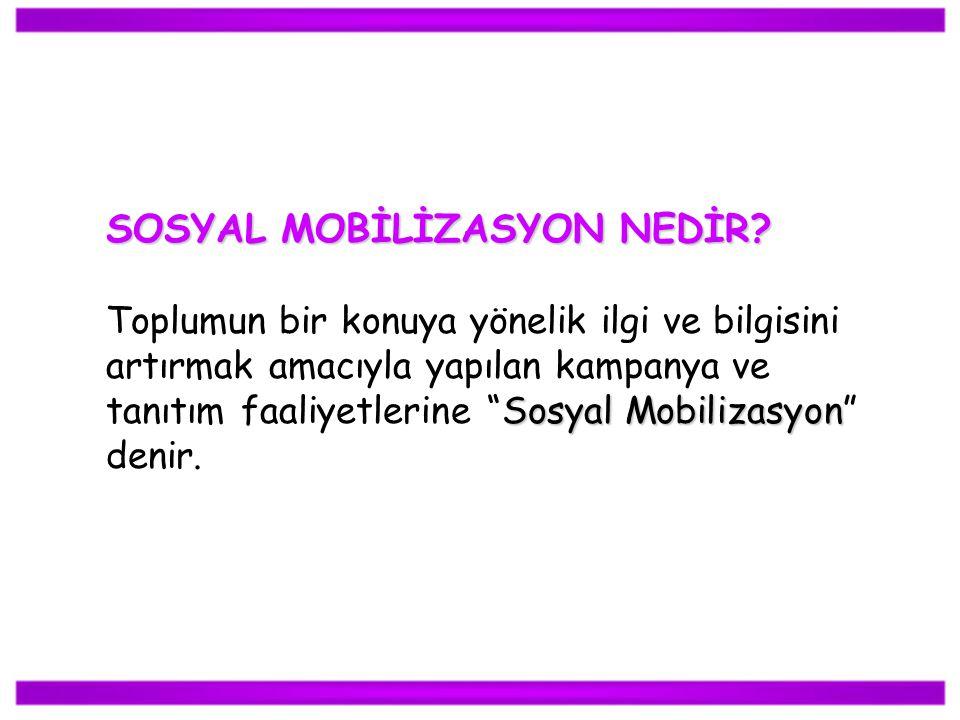 SOSYAL MOBİLİZASYON NEDİR