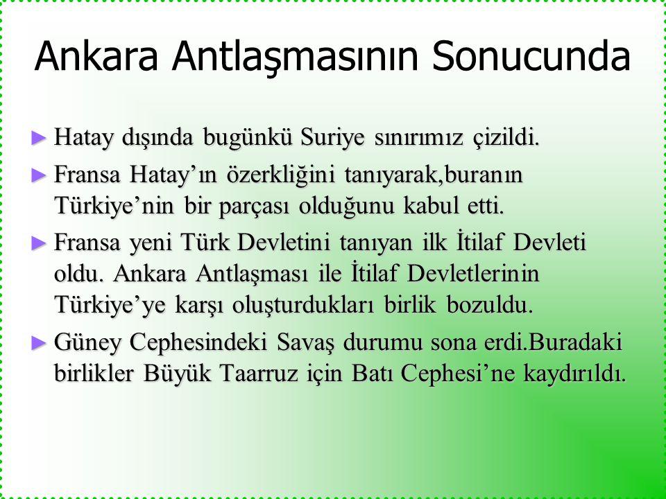 Ankara Antlaşmasının Sonucunda