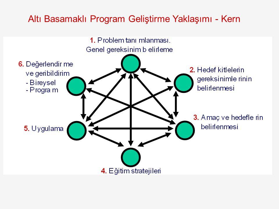 Altı Basamaklı Program Geliştirme Yaklaşımı - Kern