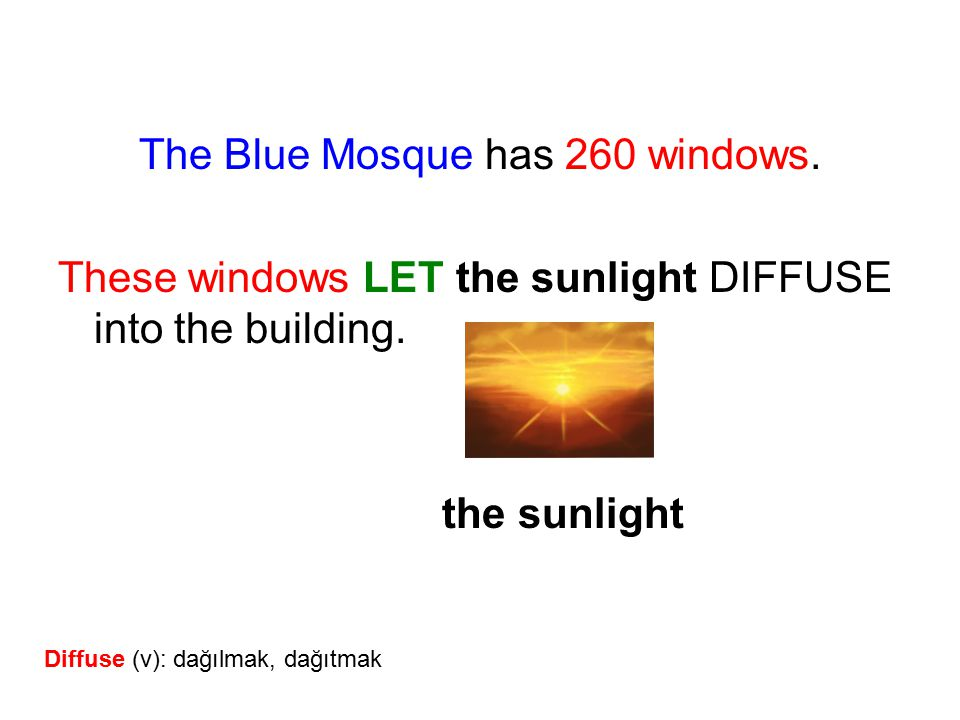 The Blue Mosque has 260 windows