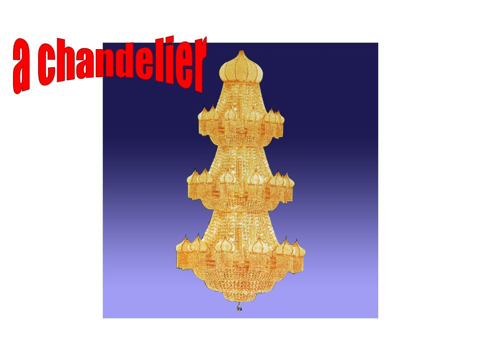 a chandelier