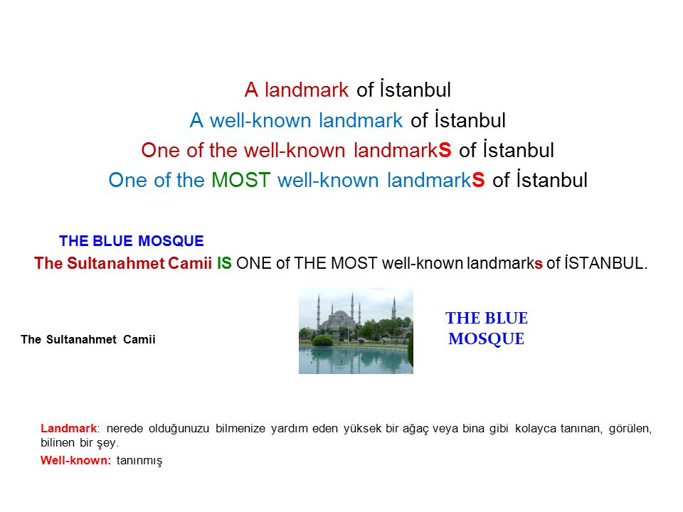 A well-known landmark of İstanbul