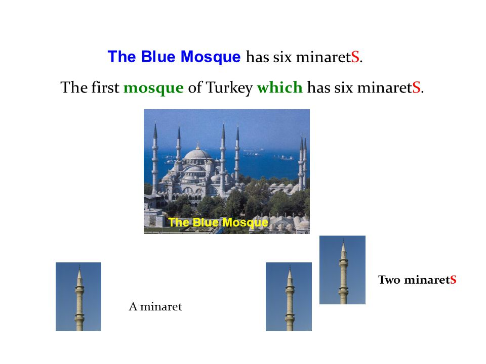 The Blue Mosque has six minaretS.
