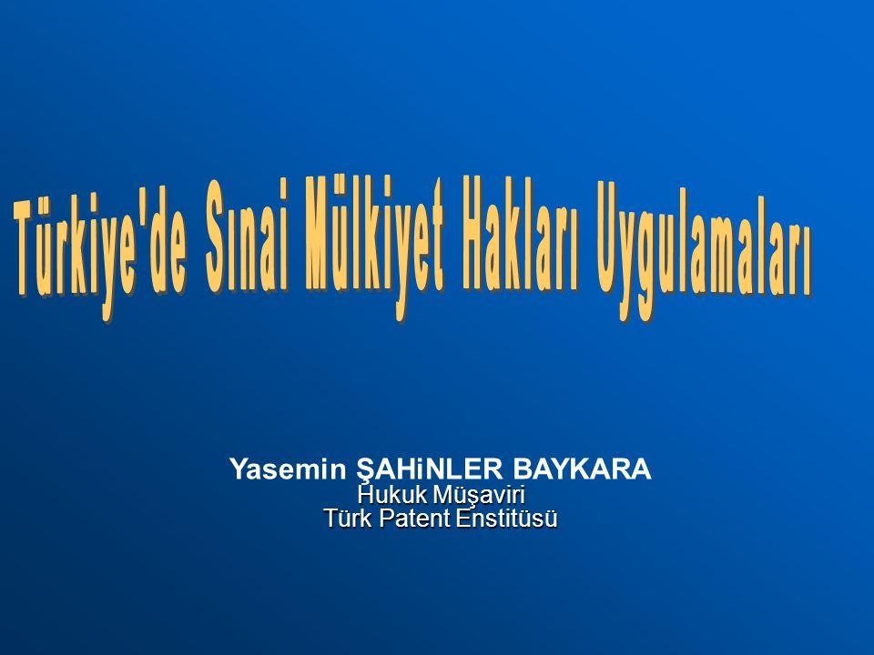 Türkiye de Sınai Mülkiyet Hakları Uygulamaları