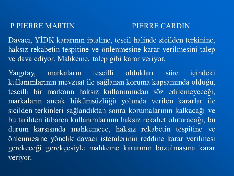 P PIERRE MARTIN PIERRE CARDIN