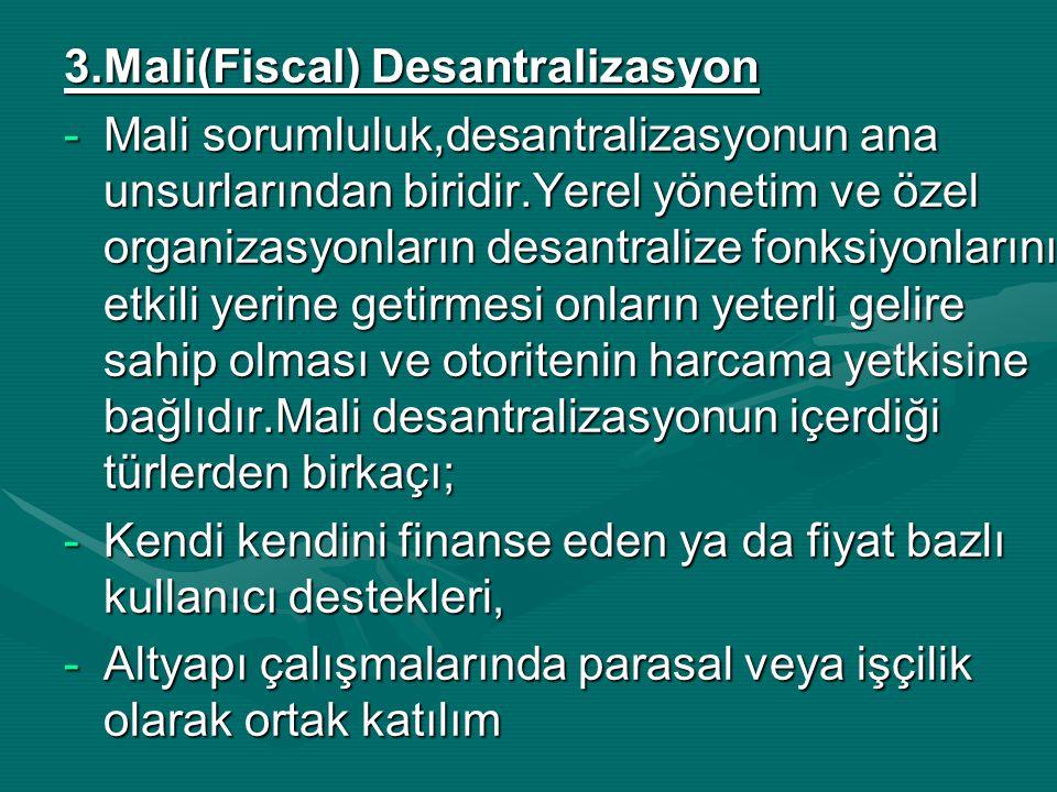 3.Mali(Fiscal) Desantralizasyon