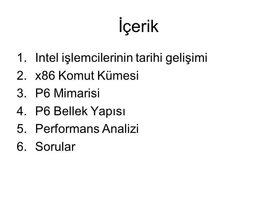 İçerik Intel işlemcilerinin tarihi gelişimi x86 Komut Kümesi