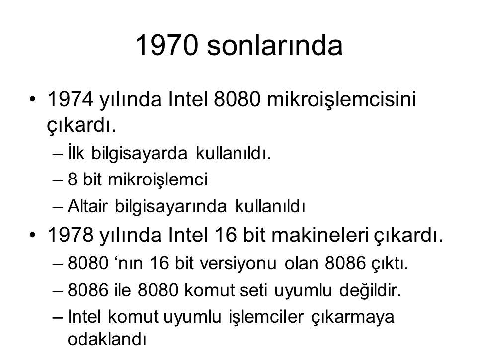1970 sonlarında 1974 yılında Intel 8080 mikroişlemcisini çıkardı.