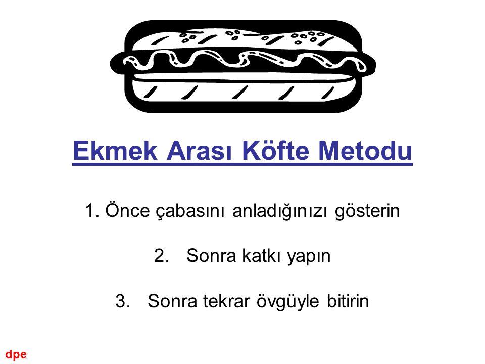 Ekmek Arası Köfte Metodu