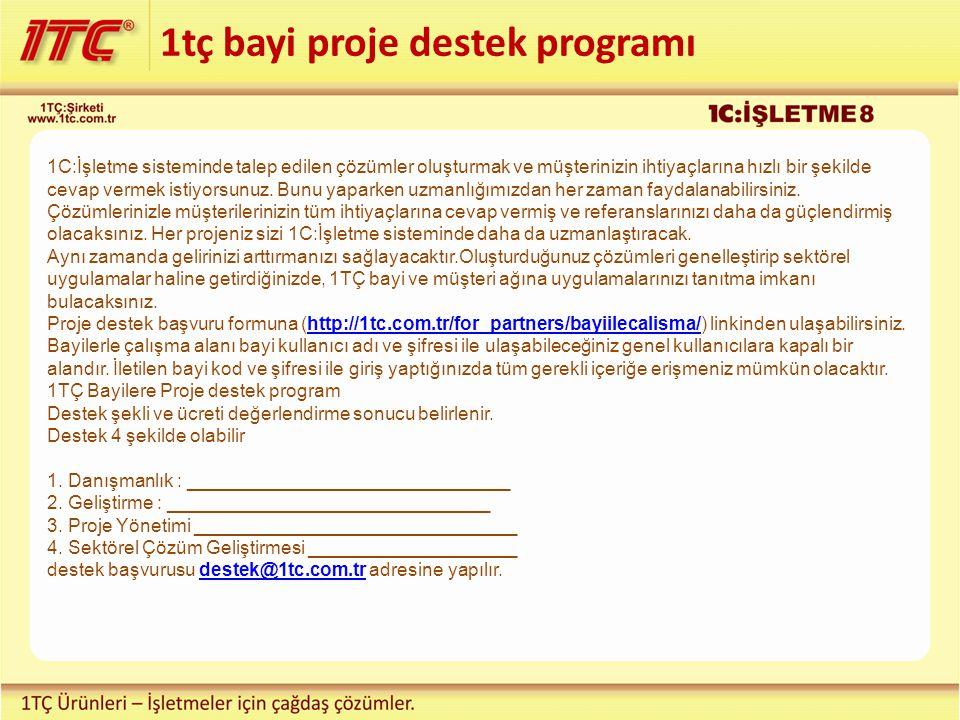 1tç bayi proje destek programı
