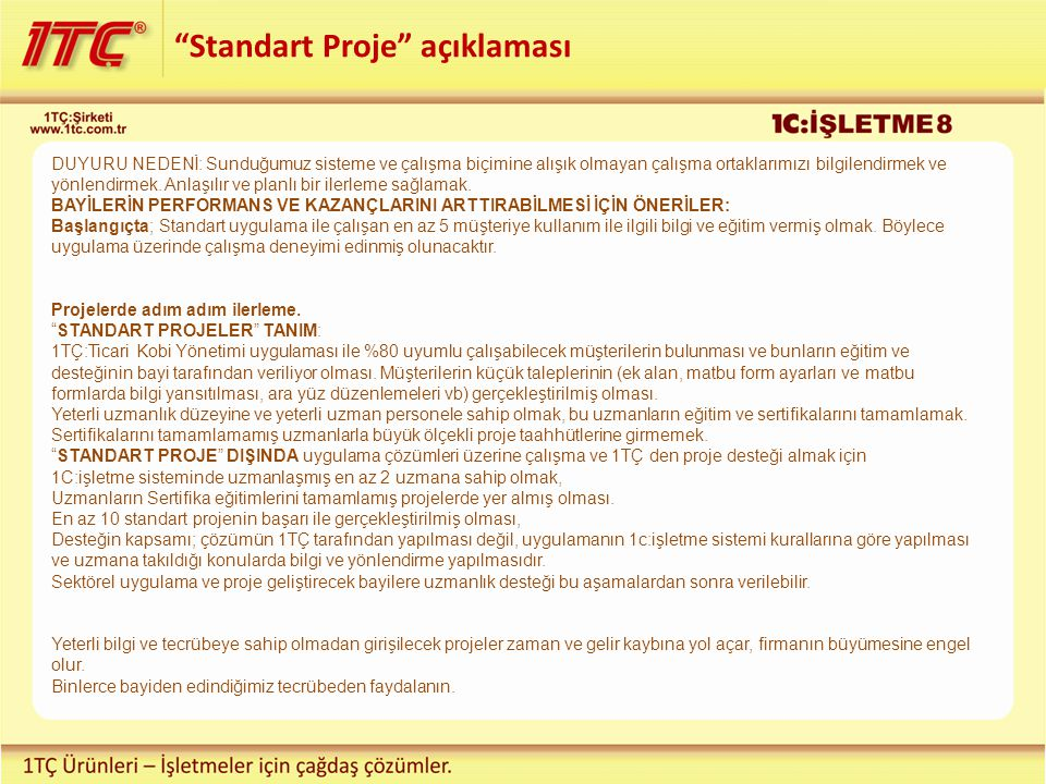 Standart Proje açıklaması