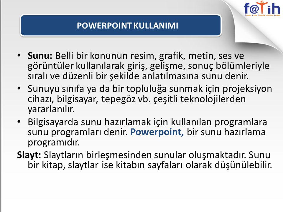 POWERPOINT KULLANIMI