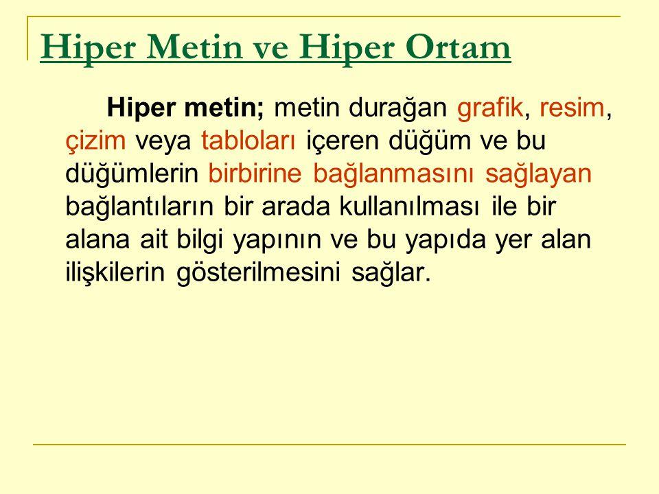 Hiper Metin ve Hiper Ortam
