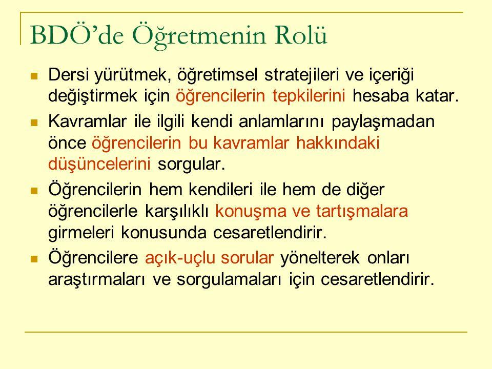 BDÖ'de Öğretmenin Rolü