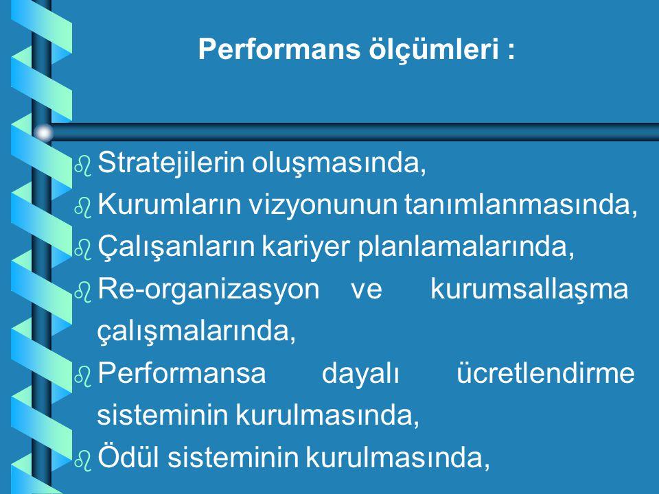 Performans ölçümleri :