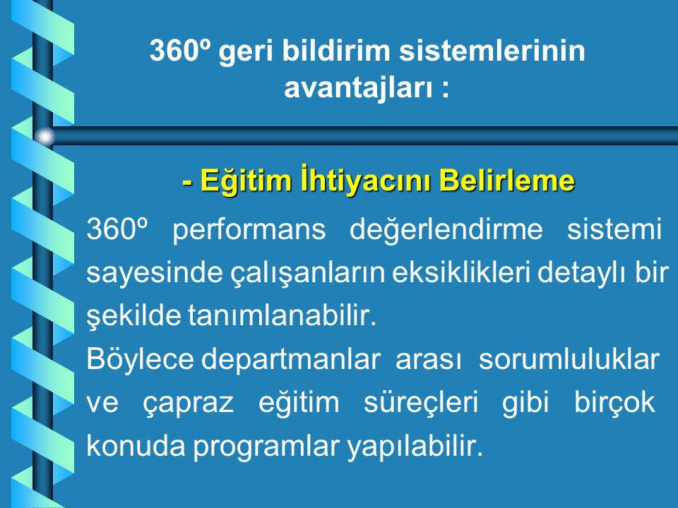 360º geri bildirim sistemlerinin avantajları :