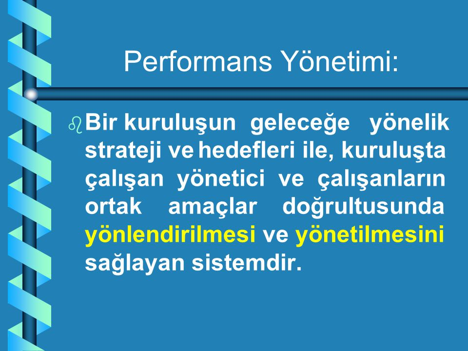Performans Yönetimi: