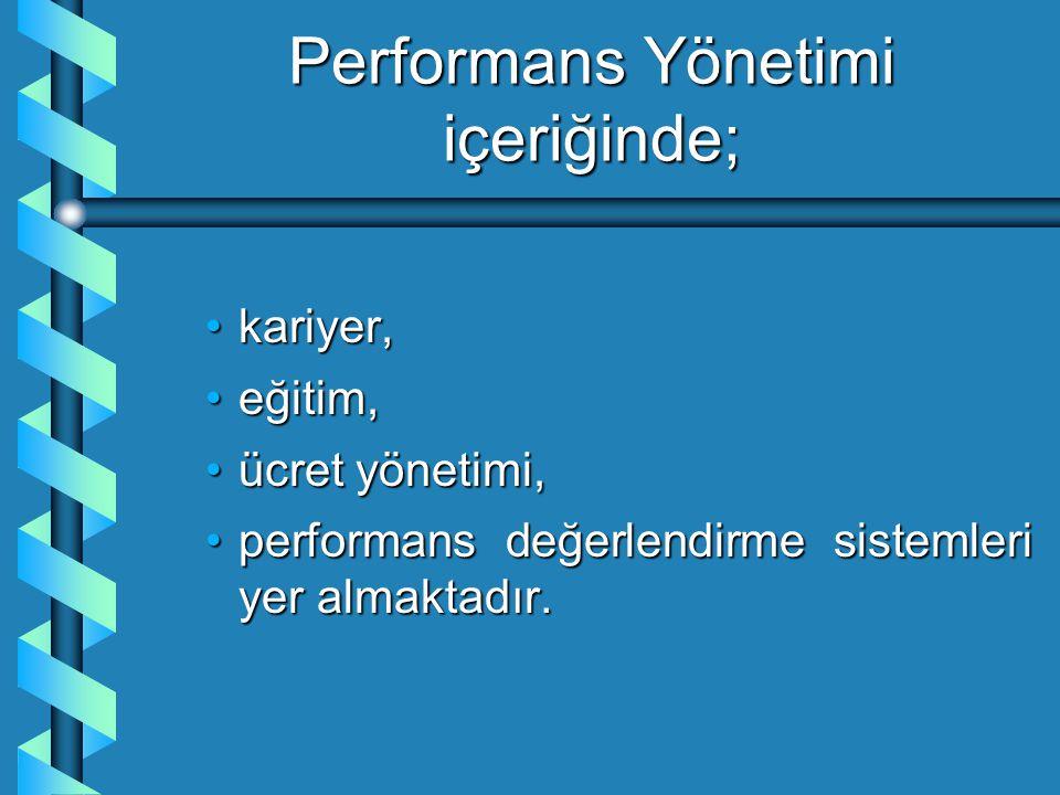 Performans Yönetimi içeriğinde;