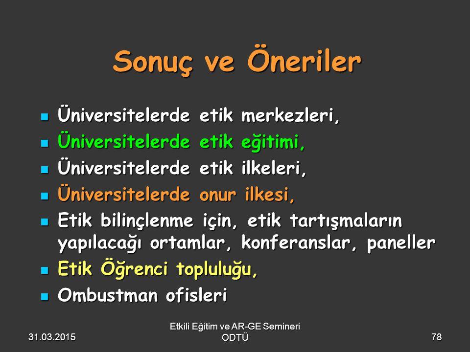 Etkili Eğitim ve AR-GE Semineri ODTÜ
