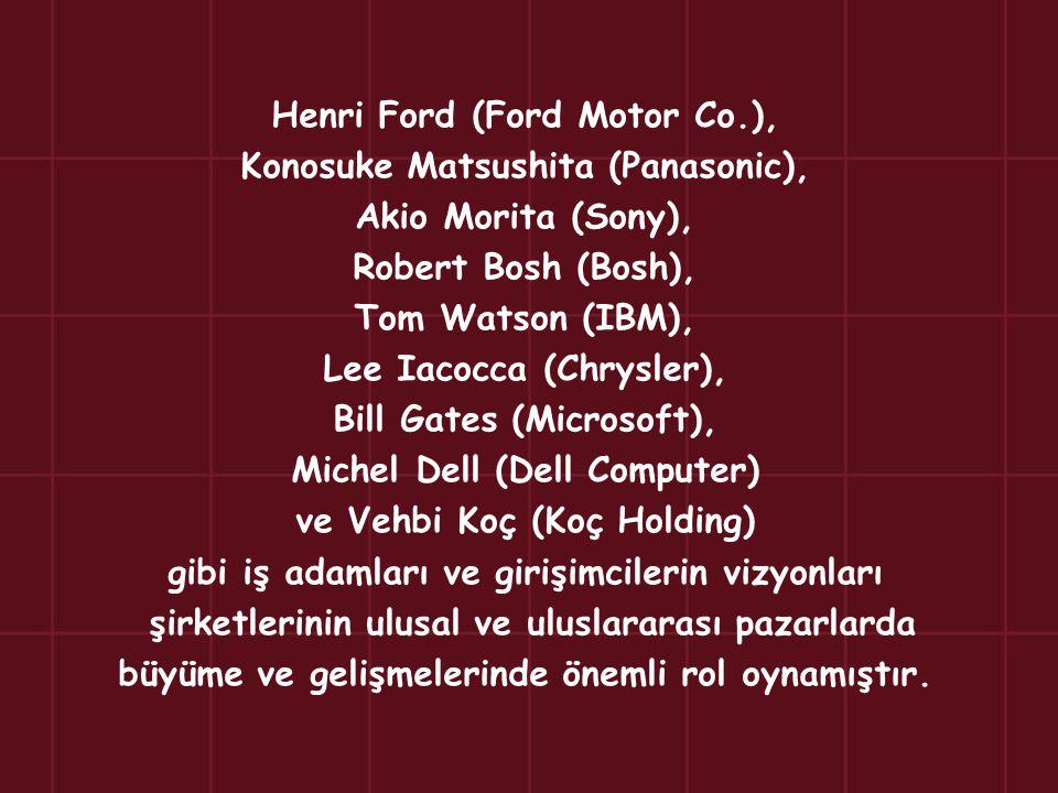 Henri Ford (Ford Motor Co.), Konosuke Matsushita (Panasonic),