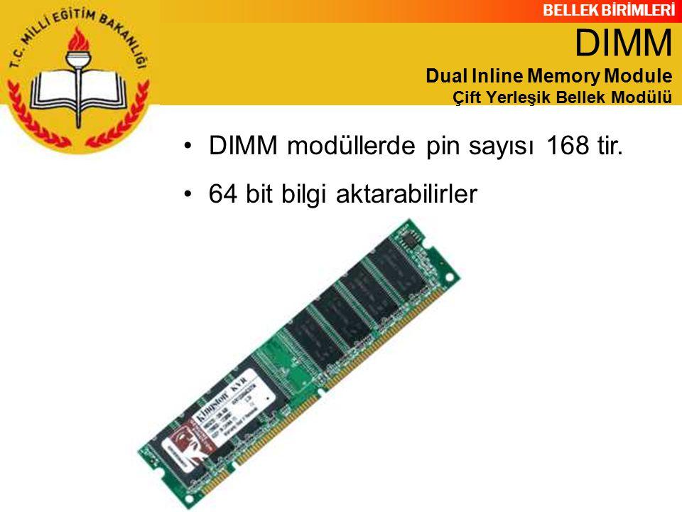 DIMM Dual Inline Memory Module Çift Yerleşik Bellek Modülü