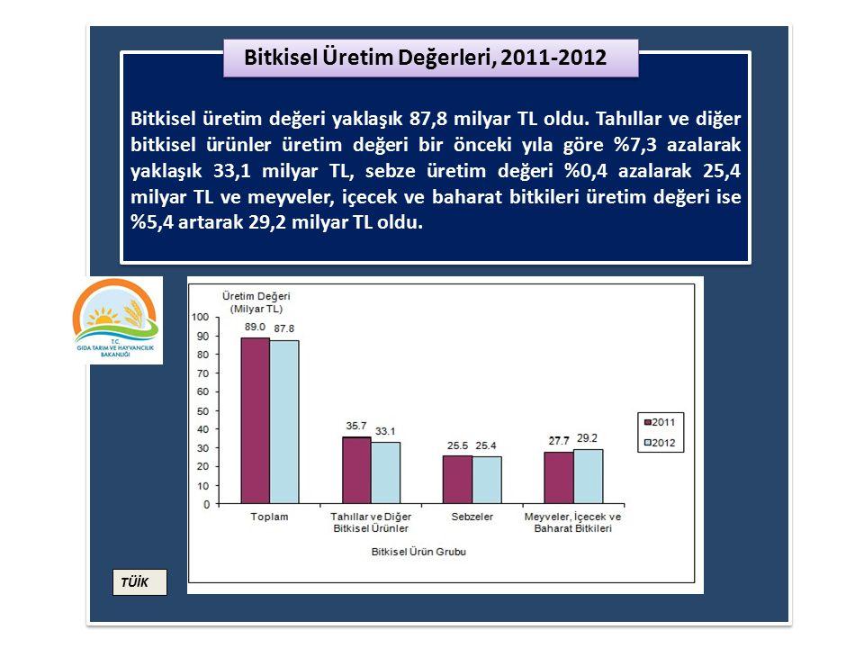 Bitkisel Üretim Değerleri, 2011-2012