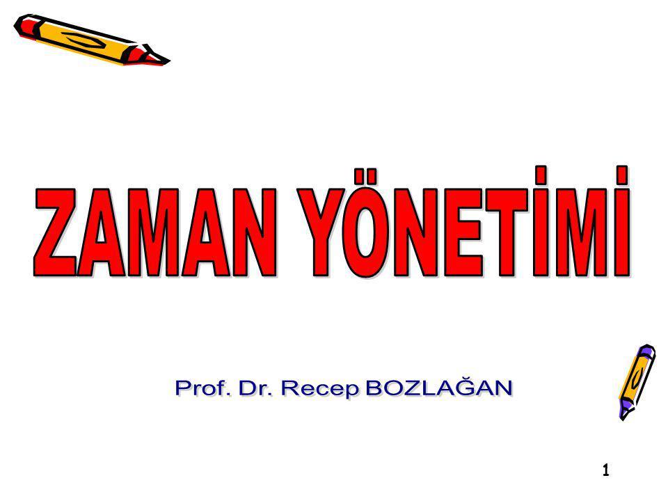 ZAMAN YÖNETİMİ Prof. Dr. Recep BOZLAĞAN