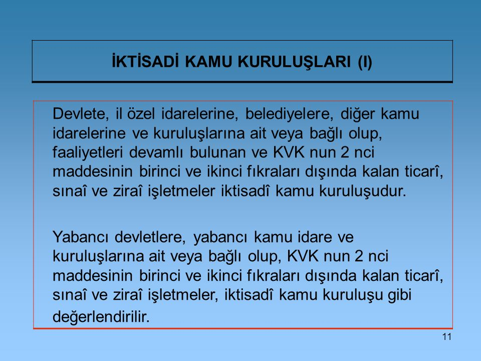 İKTİSADİ KAMU KURULUŞLARI (I)