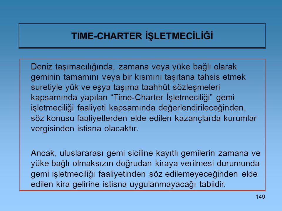 TIME-CHARTER İŞLETMECİLİĞİ
