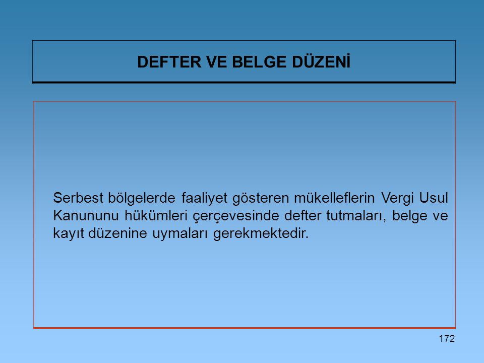 DEFTER VE BELGE DÜZENİ