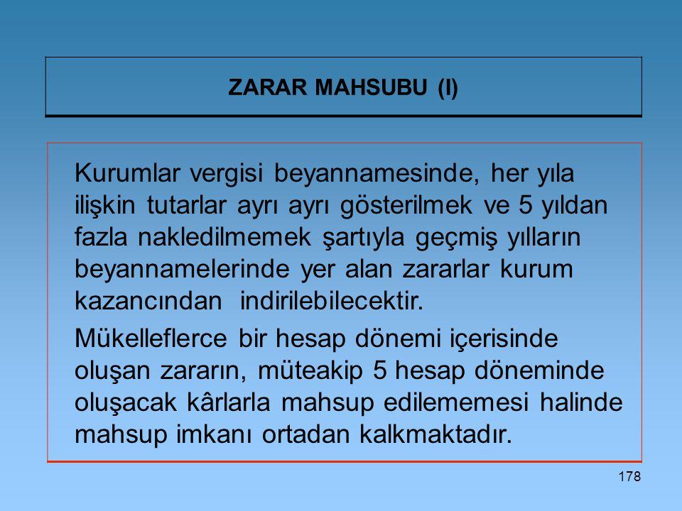 ZARAR MAHSUBU (I)