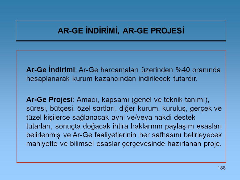 AR-GE İNDİRİMİ, AR-GE PROJESİ