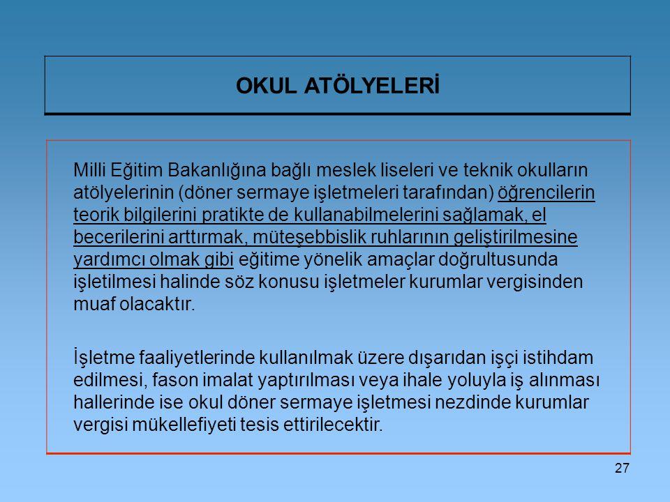 OKUL ATÖLYELERİ