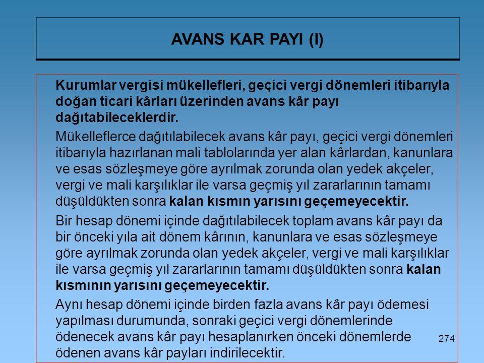 AVANS KAR PAYI (I)