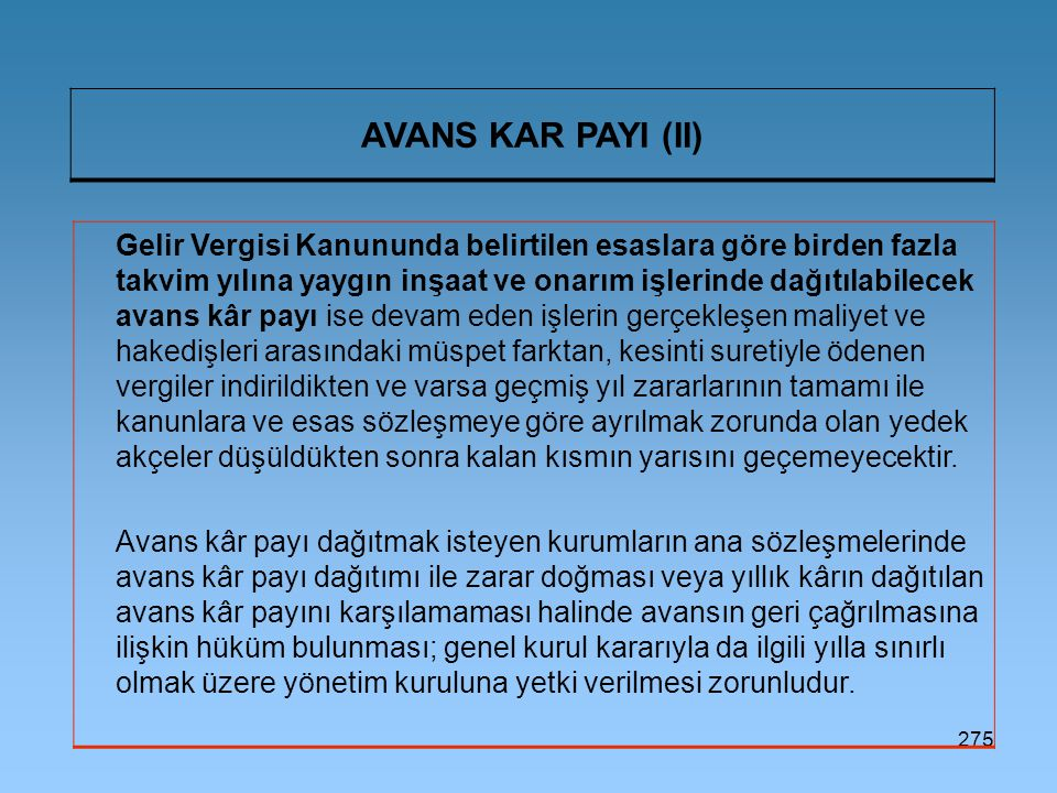 AVANS KAR PAYI (II)