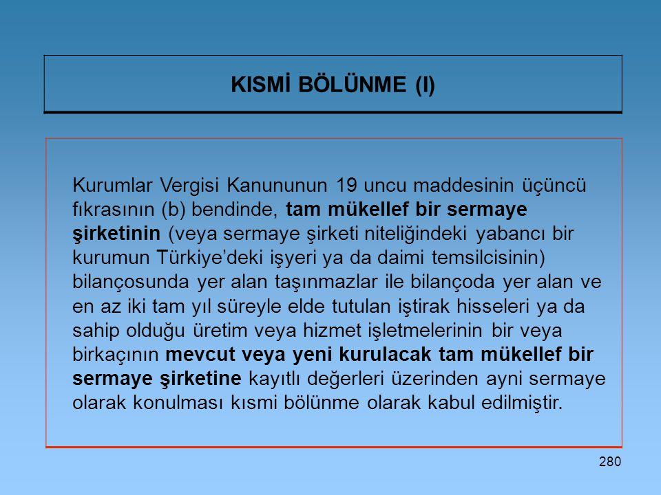 KISMİ BÖLÜNME (I)
