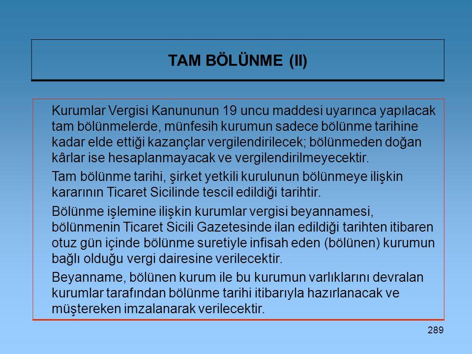 TAM BÖLÜNME (II)