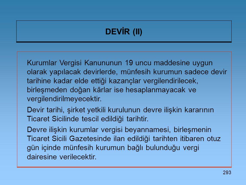 DEVİR (II)